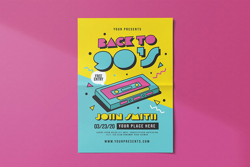 Back to 90s Flyer