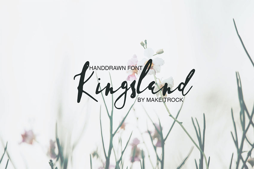 KINGSLAND - Handwritten Signature Font