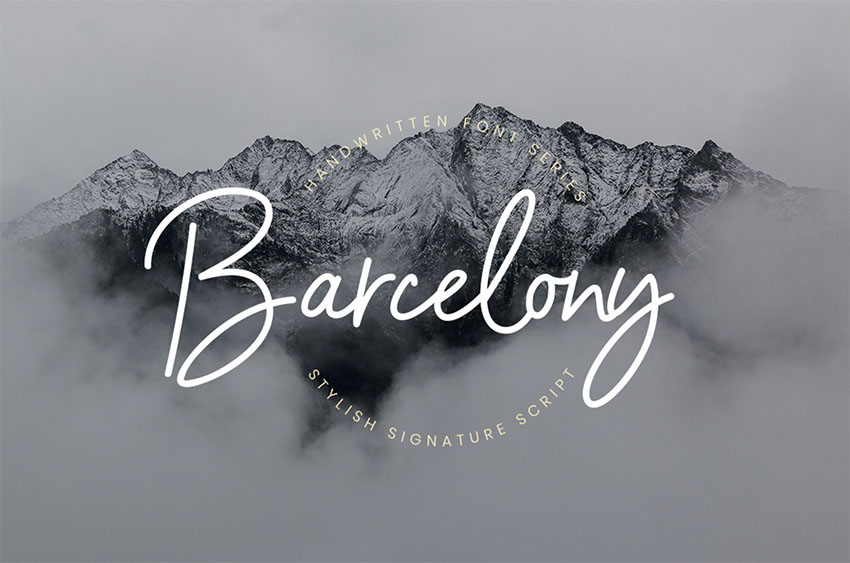 BARCELONY - Free Signature Fonts