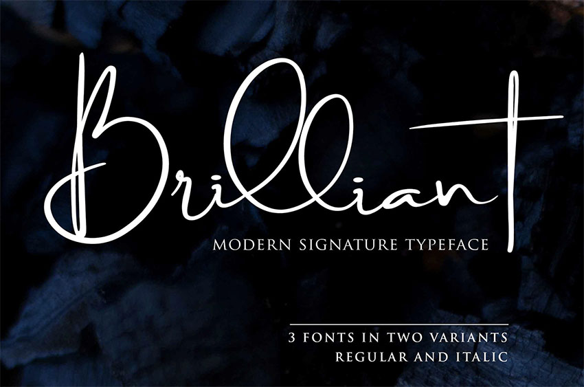 Brilliant Signature Type Fonts
