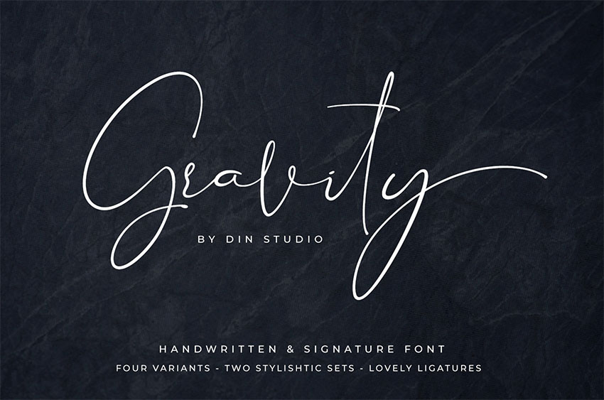 Gravity Handwritten Signature Font