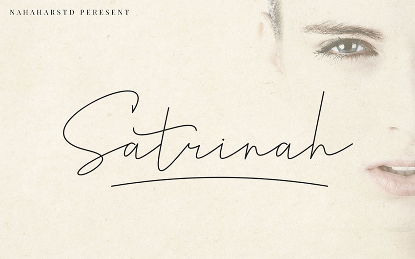 FREE  Satrinah Cursive Signature Font