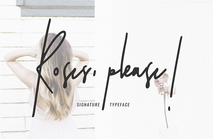 Roses Please - Free Signature Fonts