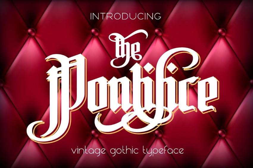 pontifice medieval font