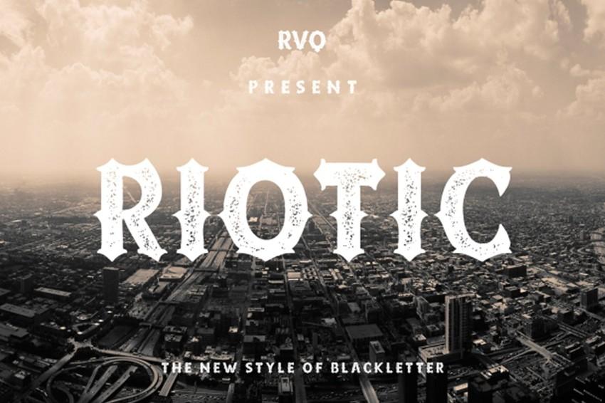 riotic modern blackletter