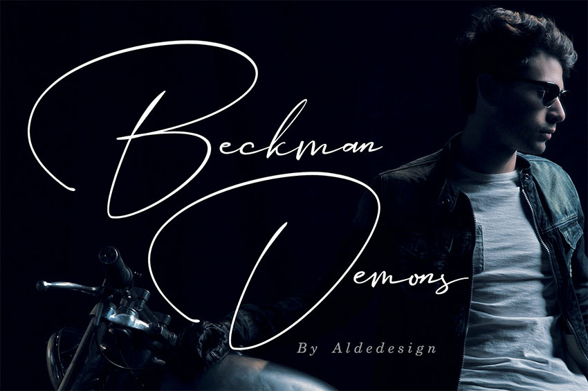 Beckman Demons - Elegant Signature Font