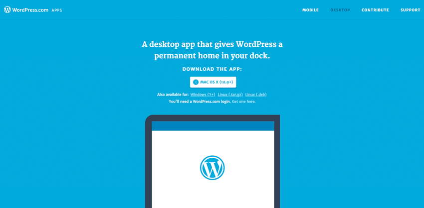 Download the WordPresscom App Optional
