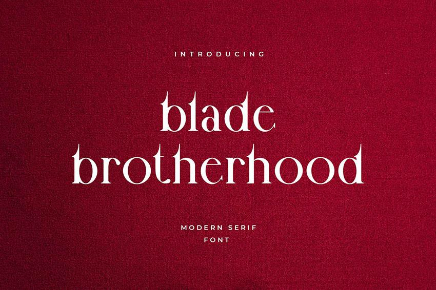 Blade Brotherhood Gothic Typography