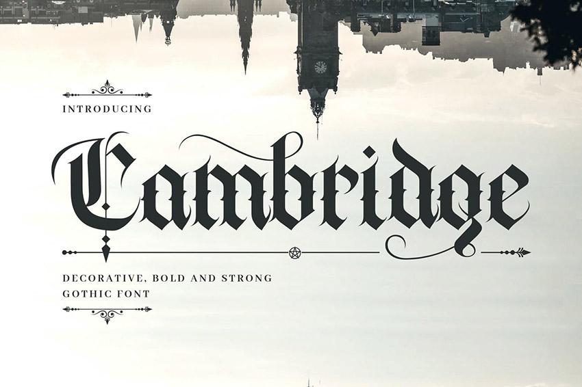 Cambridge German Gothic Font