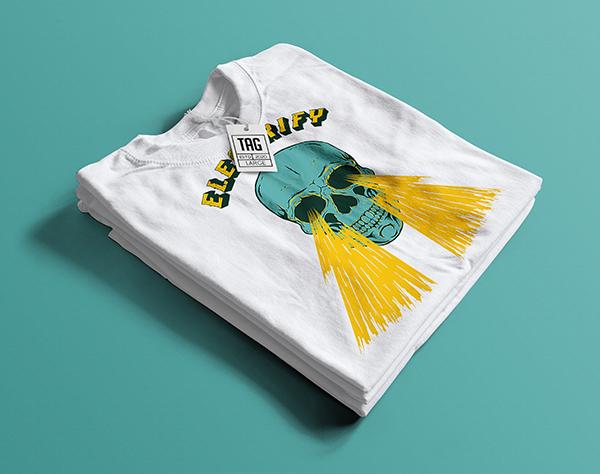 Free Folded T-Shirt Mockup
