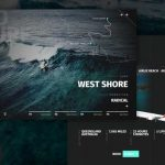 GoSurf: Free website template for surfing and travels