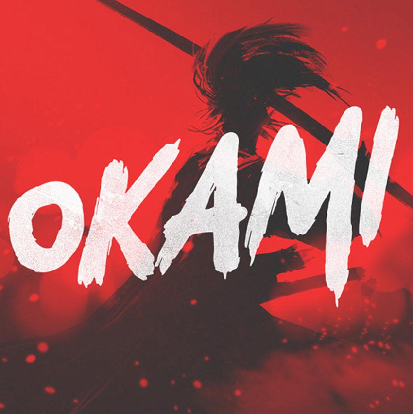 Okami - Brush Font