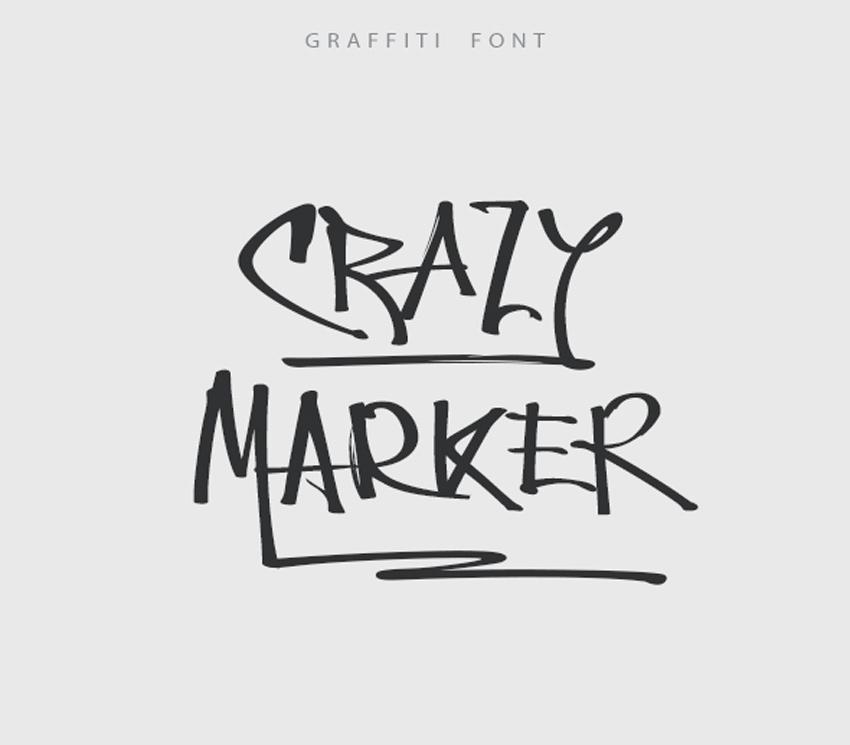 Crazy Marker Graffiti Font