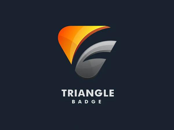 Triangle Badge Colorful Logo Design
