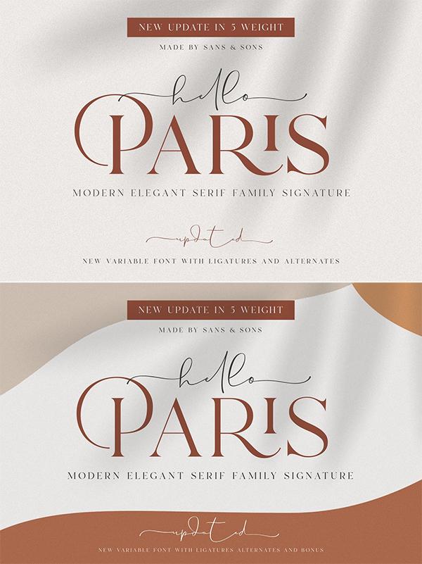 Modern Elegant Serif Font