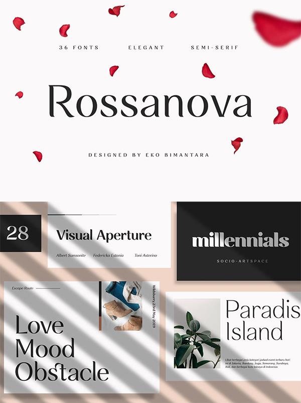Rossanova Elegant Font