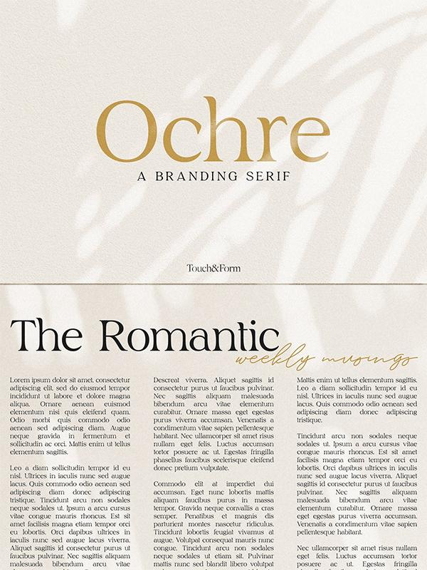 Ochre | A Branding Serif