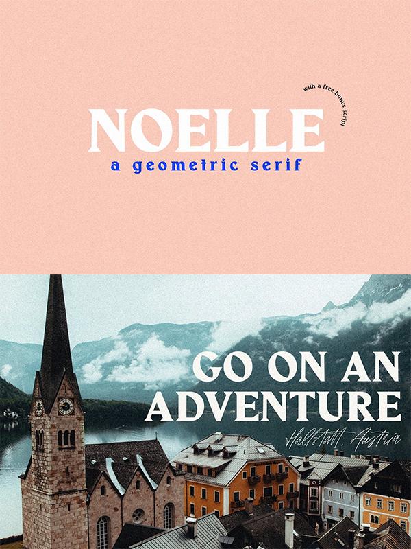 Noelle | Modern Serif & Free Script