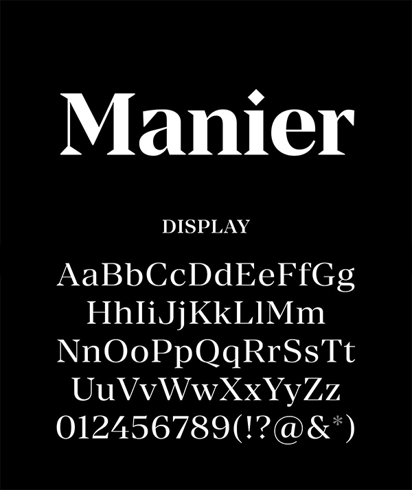 Manier – Sharp Serif Typeface