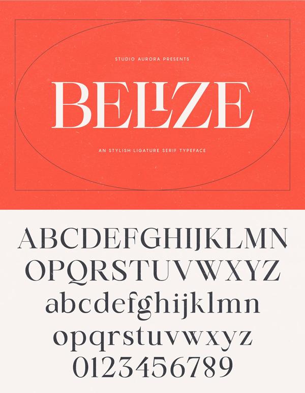 Belize – Stylish Ligature Serif Font