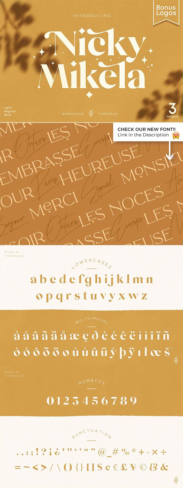 Mikela Gorgeous Font