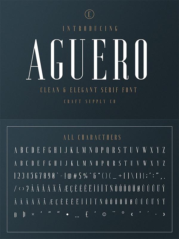 Aguero Serif - Clean & Elegant Font
