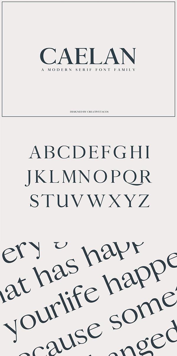 Calean Serif Font