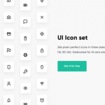 266 Free icons for UI and wireframing