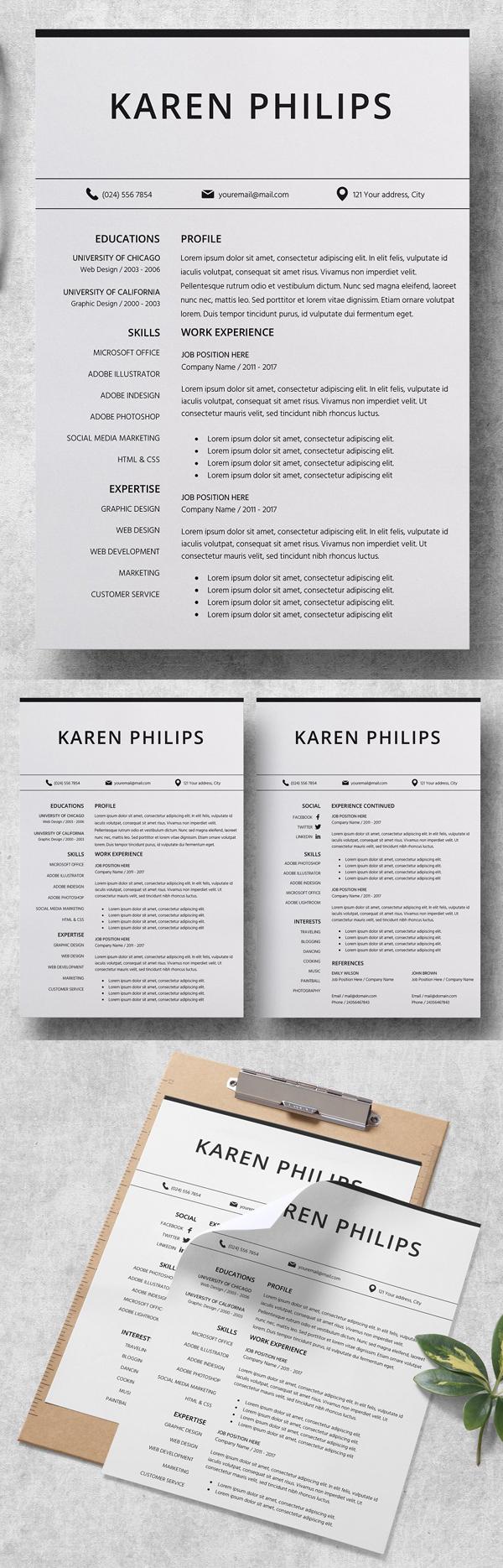 Useful Resume CV Template