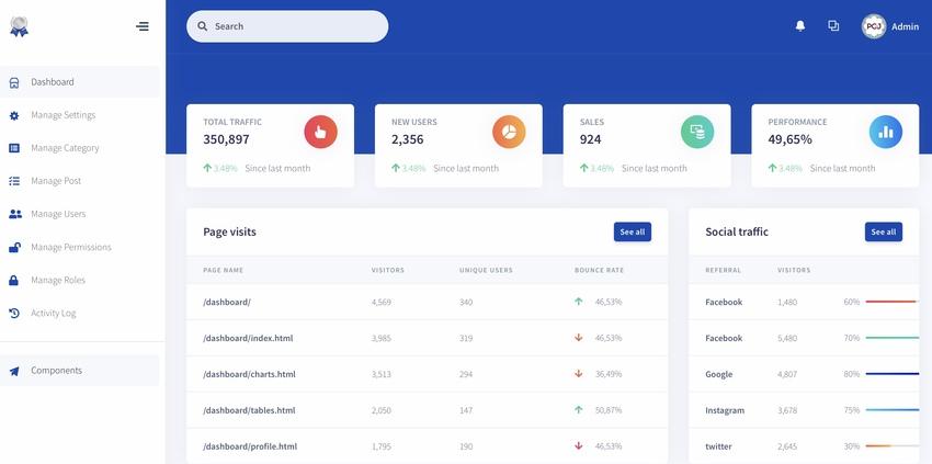 Laravel 7 Bootstrap 4 Starter Kit