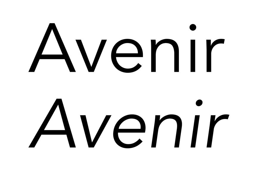 avenir typeface