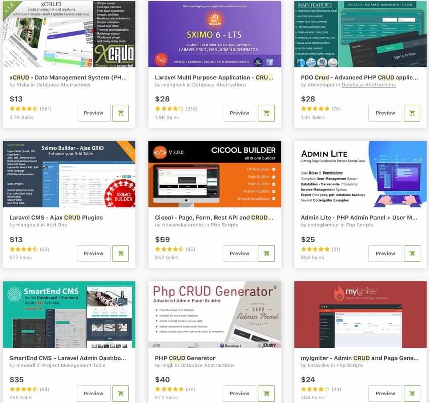Bestselling CRUD Generators and Frameworks