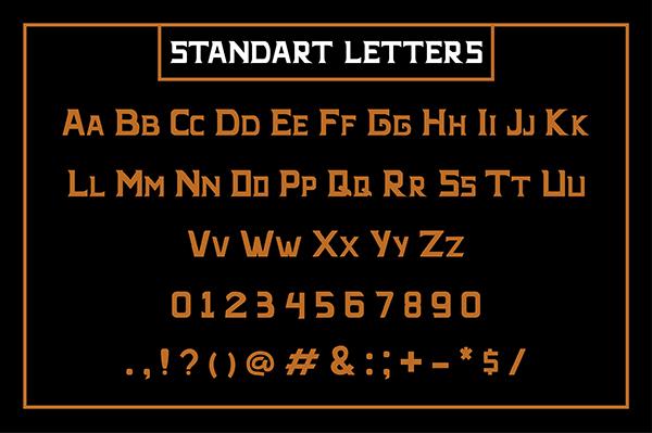 Bernaber Font Letters