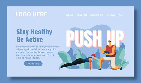 Workout - Landing Page