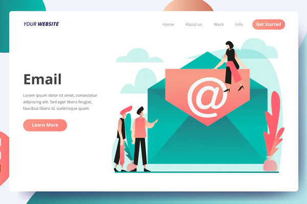 Email - Landing Page
