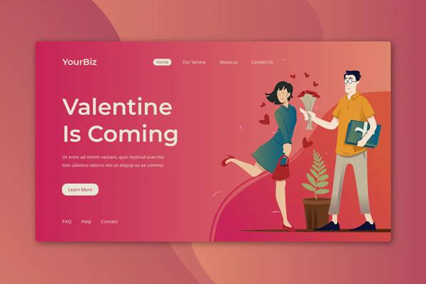 Valentine Landing Page
