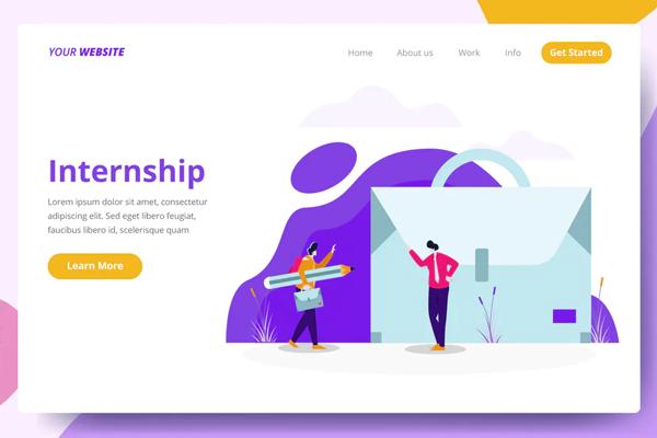 Internship - Landing Page