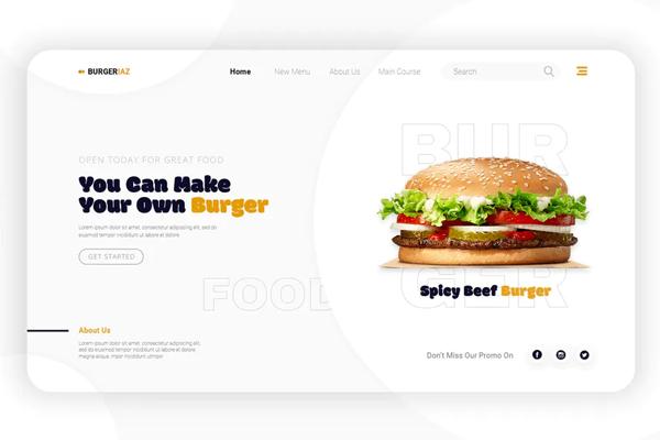 Burgeriaz | Landing Page