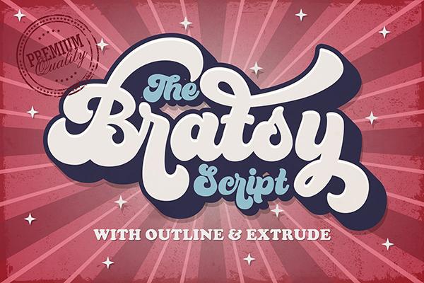 Bratsy Retro Free Font