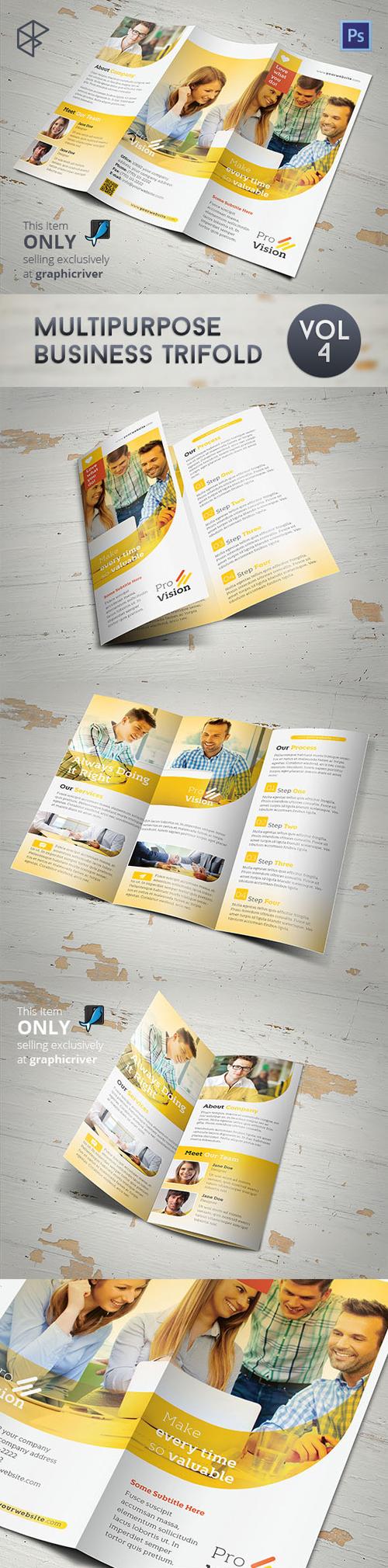 Multipurpose Business Trifold Brochure Design