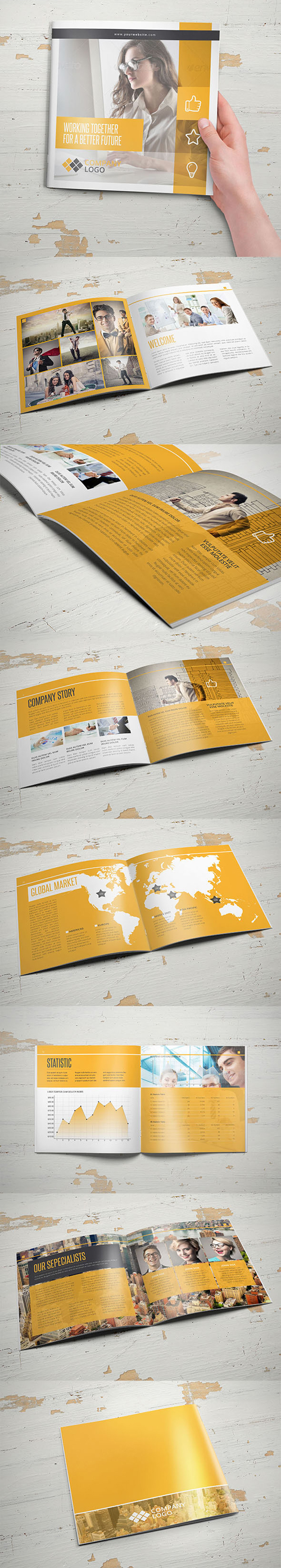 Multipurpose Business Square Brochure Template