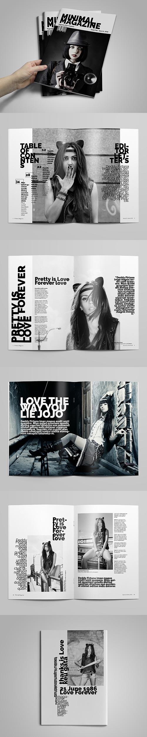 Minimal A4 Magazine / Catalog Template