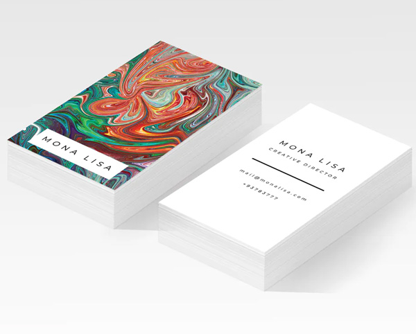 Mona Lisa Business Card Design