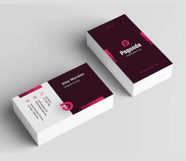 Pagonda Business Card Design