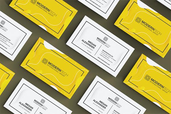 Modern Tech Business Card Design
