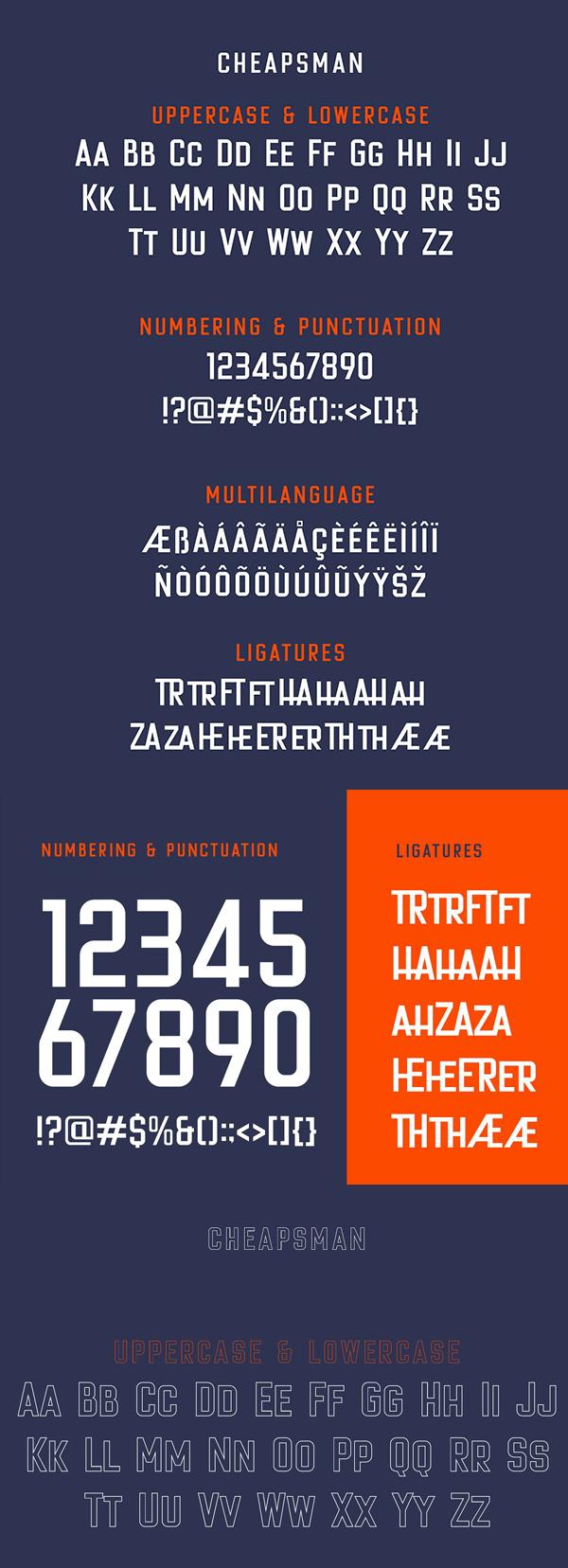 Cheapsman Sans Font Letters