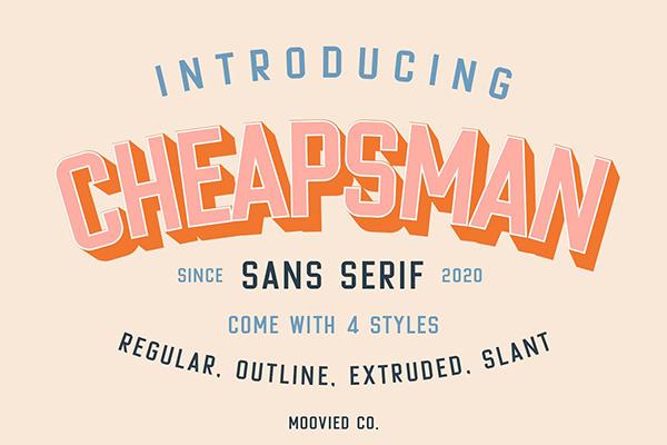 Cheapsman Sans Free Font