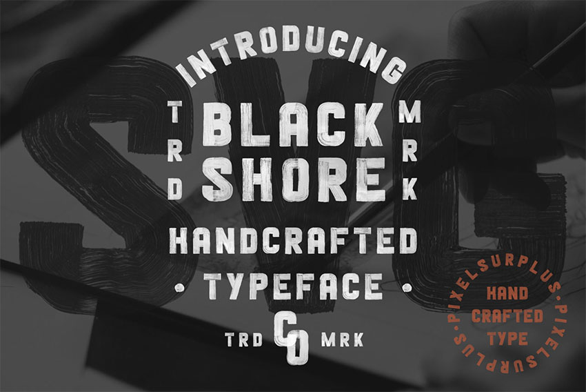 BLACKSHORE SVG - FREE HAND PAINTED FONT