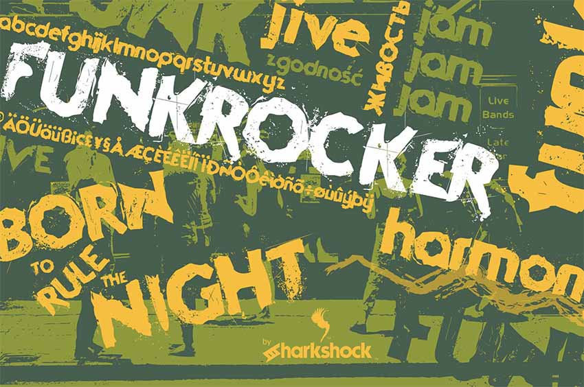 Funkrocker Distressed Font