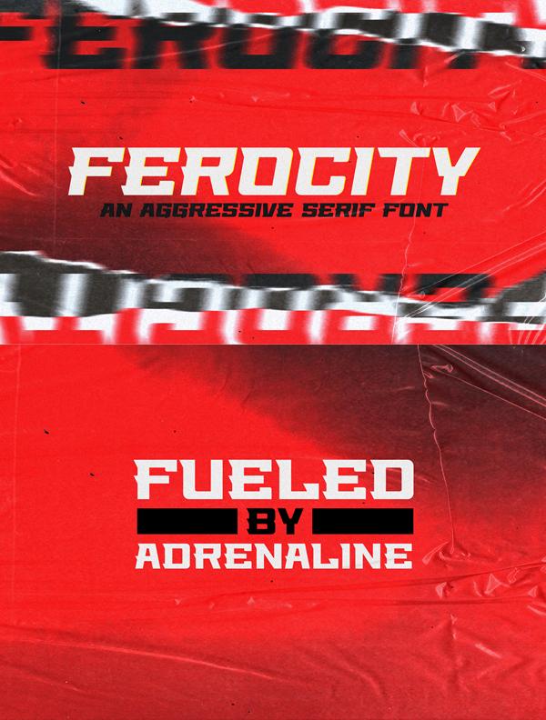 Ferocity Serif Free Font
